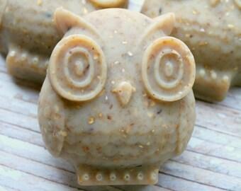 Owl Soap - Goat's Milk Soap - Oatmeal Soap - Handmade- Cold Process -Teaacher's Gift - Artisan Soap - Owl Gift - Guest Soap - Wedding Favor
