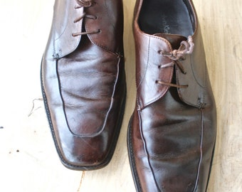 Calvin Klein Homme/1990sMen's Vintage Calvin Klein Oxfords/ Brown/ Size 10/ Mens Dress Shoe/ Size 11M/ Calvin Klein Homme