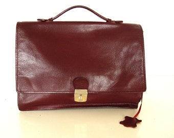 Leather Briefcase Bag.