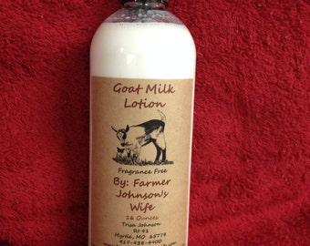 Goat Milk Lotion Fragrance Free 16 oz