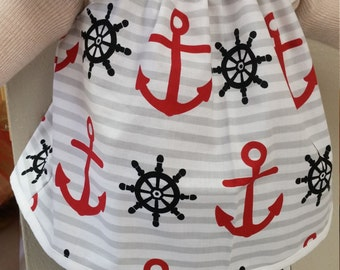 Boutique Girls Nautical Anchor Flutter Top and Shorts Outfit Summer Outfit Size 2t 3t 4t 5t 6 8 10 Girls Clothes Baby Clothes Summer Clothes
