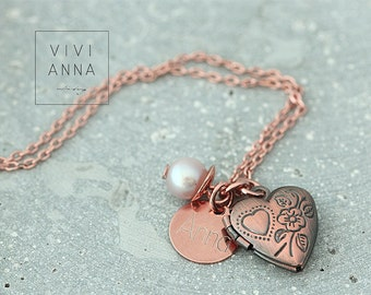 Vintage Love I - chain with engraving | K374
