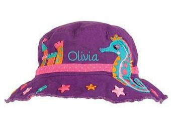 Sea Horse Sun Bucket Hat, Beach Bucket Hat, Baby Bucket Hat