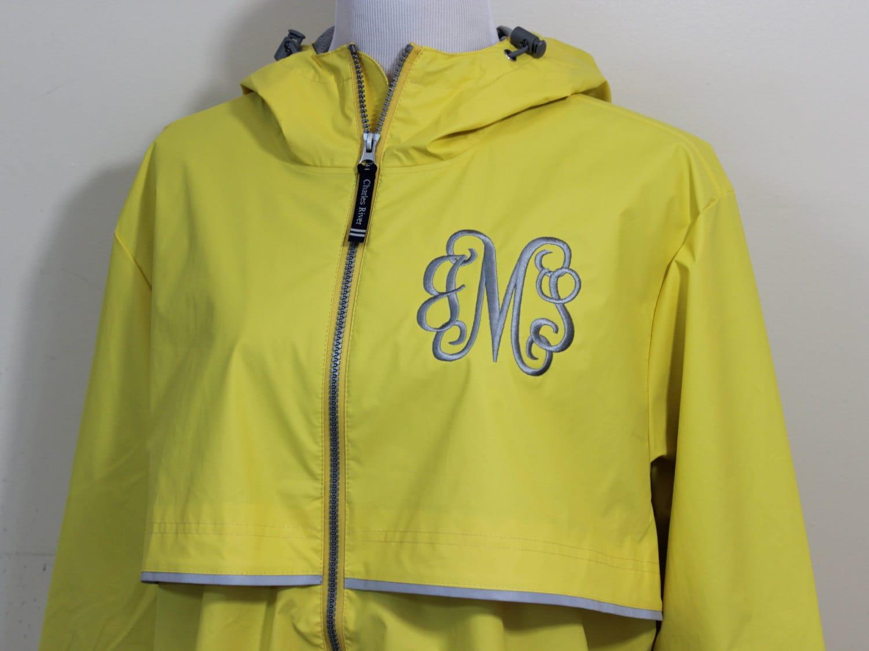 Monogrammed Rain Jacket Charles River Rain Coat Women S