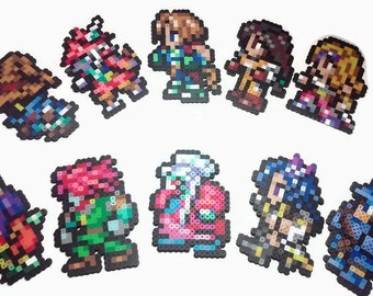 Final Fantasy 9 Perler Bead sprite set 16 bit style, video game decor, ffIX, video game perler, geeky gift, gamer gift, retro videogame