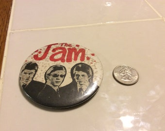 Vintage button pin of the Jam
