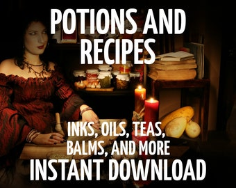 17 Book of Shadows Pages, 69 Potions & Recipes, Book of Shadows Pages, Wicca, Witchcraft, Charmed, BOS Pages, Witchcraft Book, Wicca Book