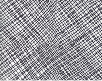 Moda Thicket Crosshatch Black White by Gingiber