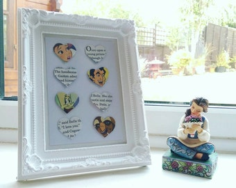 Beauty and the Beast Belle baroque Disney inspired frame