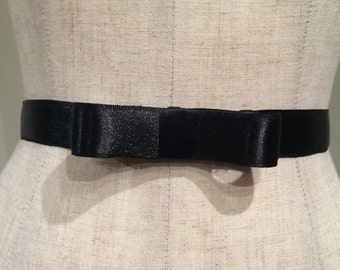 BLACK Bow Belt,Bow Belt, Bridesmaid Belt,Prom,Formal,Sorority, Pageant.