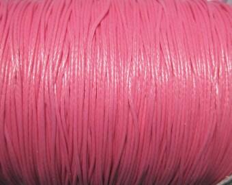 30ft Hot Pink Korea Wax Cotton Cord Bracelet Necklace Cord 0.5mm