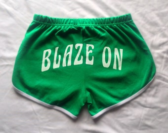 Blaze On Vintage Green Booty Shorts