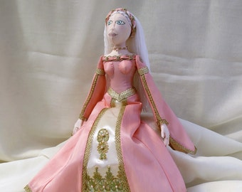 Medieval  Art Cloth Doll. Handmade OOAK Cloth Doll.