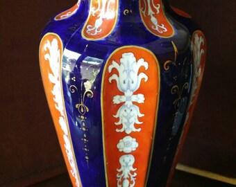 Antique European Ironstone Vase Imari Colored