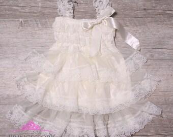 Flower Girl Dress, baby wedding dress, baby girl wedding dress, baby dress, Baby Girl Dresses,lace flower girl dress, lace wedding, OFFW