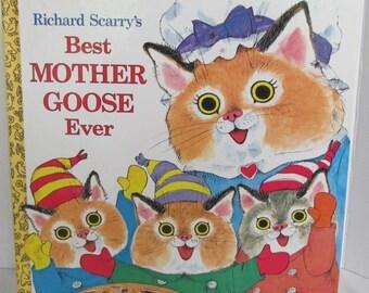 Richard Scarry Mother Goose Book-1992- Nursery Rhymes