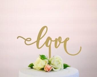 love 2 : wedding cake topper
