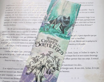 "Bookmark Silver Fox ""foxes, charms and spells"""
