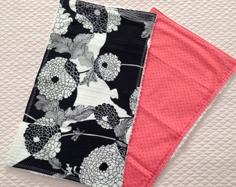 Fashionable Baby Burp Cloths in Cotton and Chenille
