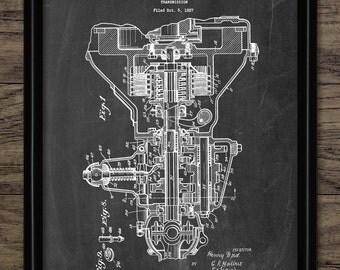 Car Transmission Patent Print - 1930 Car Engine Design - American Transmission - Garage Mechanic - Single Print #838 - INSTANT DOWNLOAD