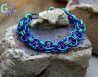 Handmade Helm Weave Chainmaille Bracelet