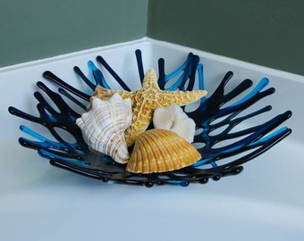 Fused Glass Coral Bowl