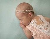 Newborn Lace Romper-- Newborn Outfit-- Newborn Photo Prop-- Baby Girl Romper
