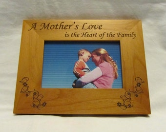 Personalized Wood Picture Frame- A Mother's Love