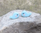 Polymer Clay Earrings, Polymer Clay Jewelry, Blue Earrings, Small Earrings, Cute Earrings, Whale Earrings, Kids Earrings, Girls Earrings