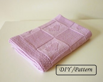 Knitting Patterns Circular Needles : Babydecke stricken / Hand gestrickte Babydecke / Decke aus