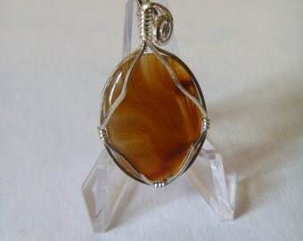 Sterling Silver Brazilian Agate Pendant