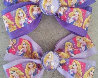 RAPUNZEL Hair Bow. TANGLED Hair Clip.