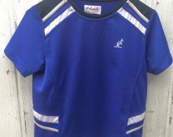 Australian Vintage Tennis T-shirt Blue S / XS
