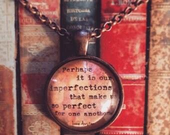 Jane Austen Imperfect Necklace