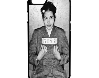Rosa Parks iPhone Galaxy Note LG HTC Protective Hybrid Rubber Hard Plastic Snap On Case Black  Civil Rights