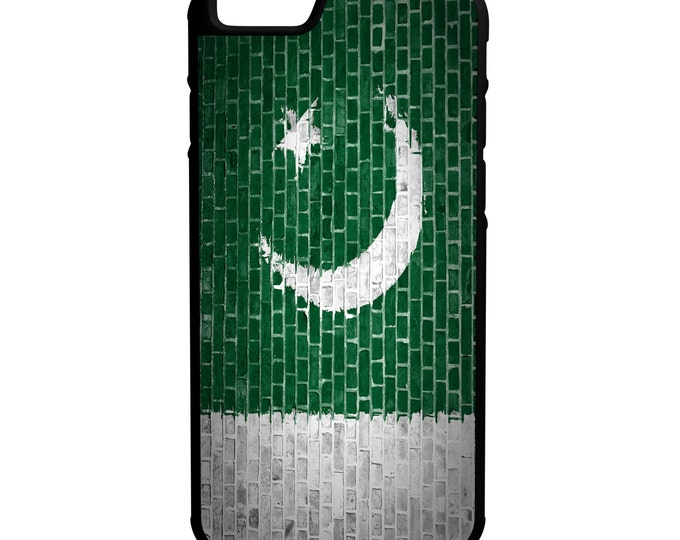 Pakistan Flag on Brick Wall iPhone Galaxy Note LG HTC Hybrid Rubber Protective Case