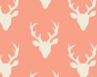 Hello Bear - Buck Forest Peach - Bonnie Christine - Art Gallery Fabrics (HBR-4434-6)
