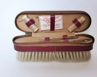Vintage 5th Avenue Clothes Brush with Full Manicure & Mending Kit ~ 1940s Travel Set  ~ Mens Grooming ~ Gift For Him ~ Vintage Decor