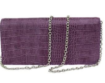 Purple clutch, clutch, Purple leather clutch, Evening clutch, Women coctail clutch,Purple accessories, rigid structure clutch, small bag