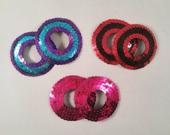 Sequin Covered Peek-a-boo Nipple Tassels or Pasties. Various Colours.