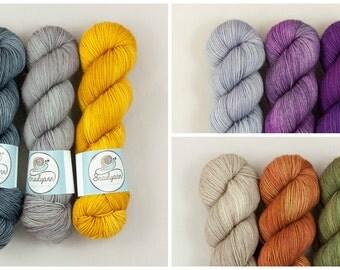 Yarn Kit - Stripes & Blocks hat+loop - Pre-order