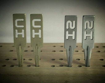 Custom Cribbage Pegs (2 Player Deluxe Set) - Stainless Steel & Brass Pegs - FREE Personalized Gift Box! - Makes a Great Wedding Gift!