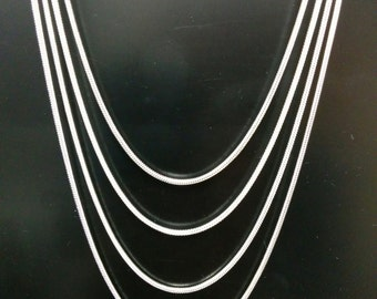 "Sterling Silver Necklace - Stunning 2MM 925 Sterling - Summer Sale, now 10% OFF the Sale Price!  BEST SELLER!  18"", 20"", 22"" or 24"" lengths."