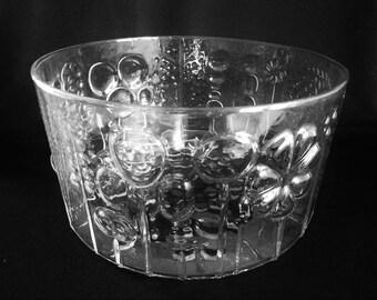 Mid century Scandinavian Art Glass Iittala Nuutajarvi Flora BOWL