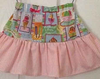 Girls two tiered cotton skirt