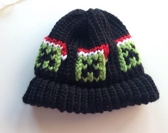 Minecraft Inspired Christmas Creeper Hat