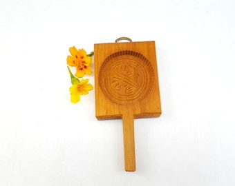 Vintage Butter Paddle Tart or Sugar Mold with Wheat Design, Rustic  Kitchen Wood Wall Hanging