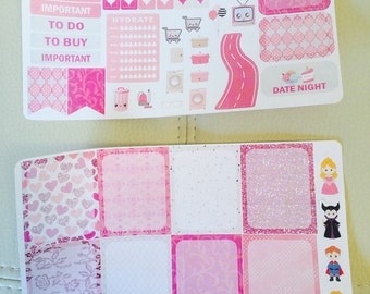 Briar Rose Functional Planner Stickers Add On, for use with  Erin Condren Life Planner, Happy Planner