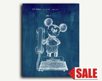 Patent Art - Mickey Mouse Telephone Patent Wall Art Print
