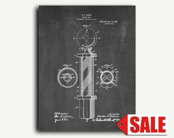 Patent Print - Barber-pole Patent Wall Art Poster